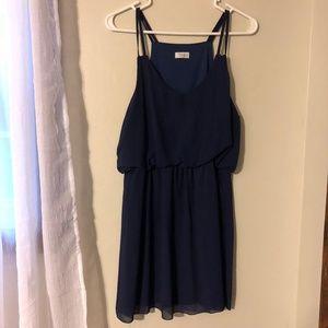 Tobi Navy Blue Mini Dress Size Large